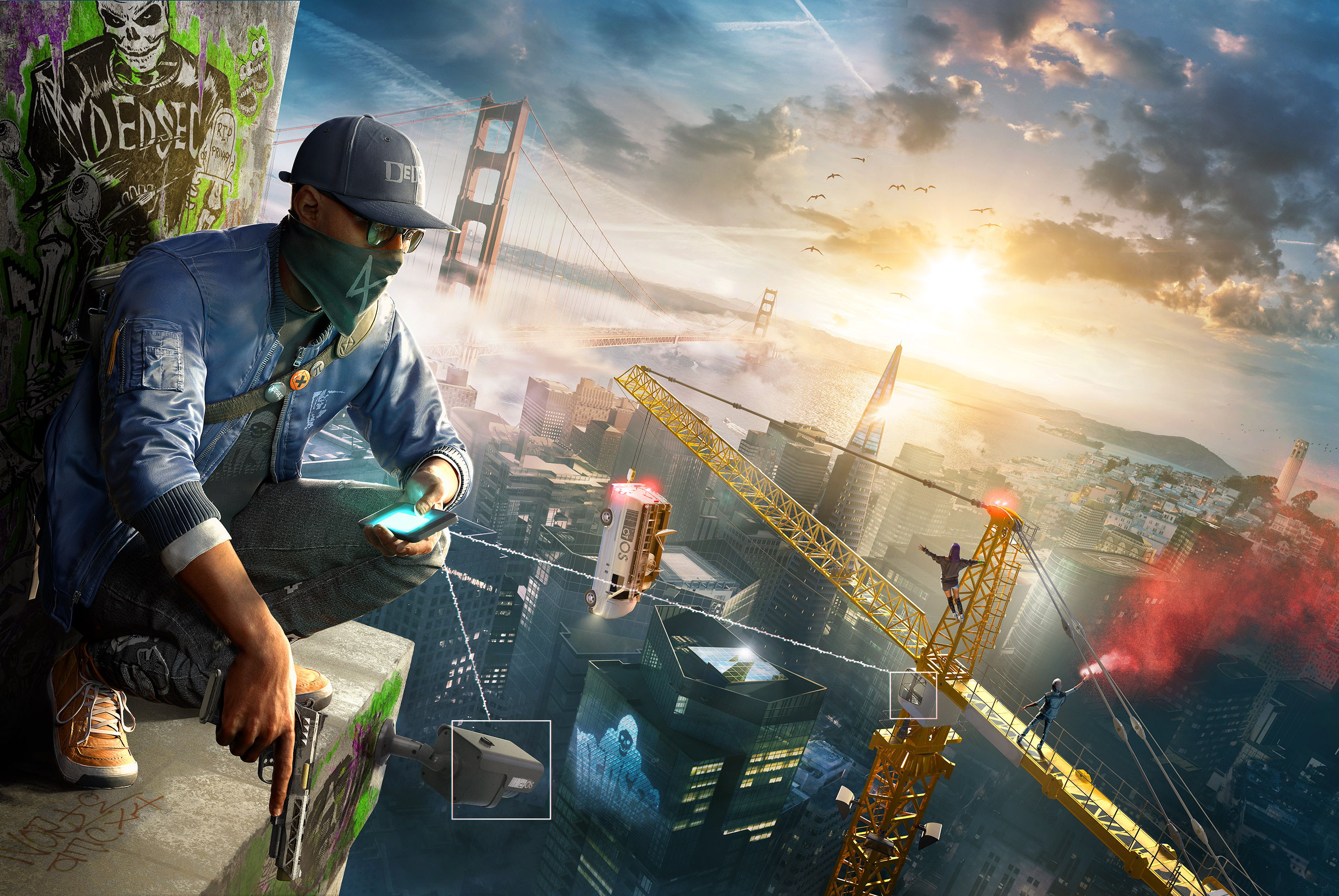 watch dogs 2 4k widescreen desktop wallpaper 1343