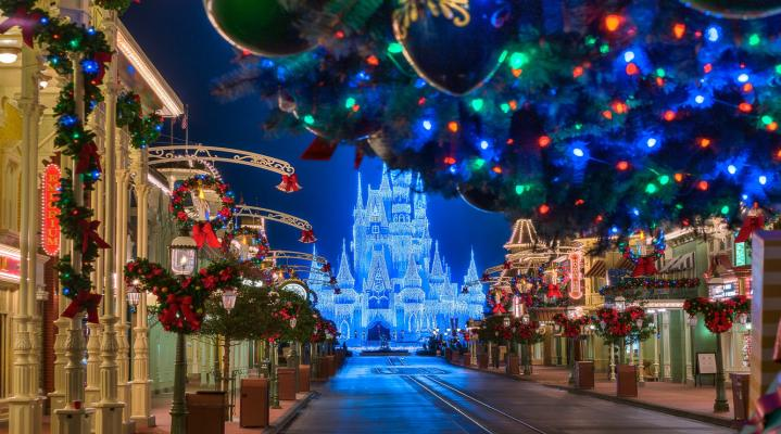 Disneyland Christmas HD Wallpaper 2007