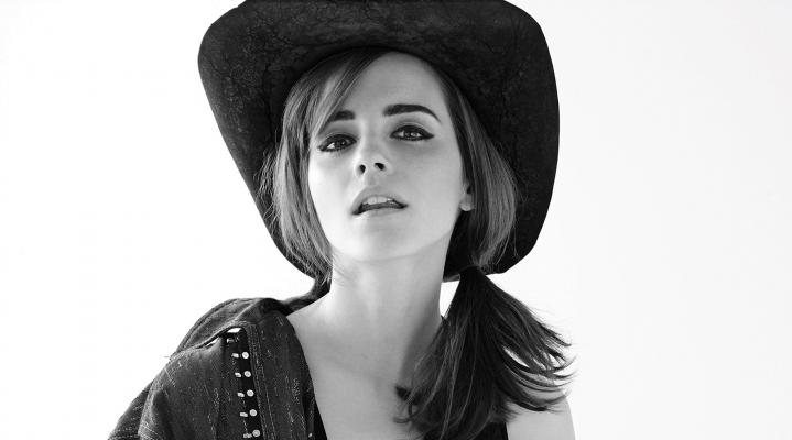 Emma Watson Black and White HD Wallpaper 2052