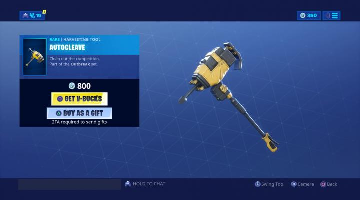 Fortnite Autocleave Harvesting Tool HD Wallpaper Background 2305