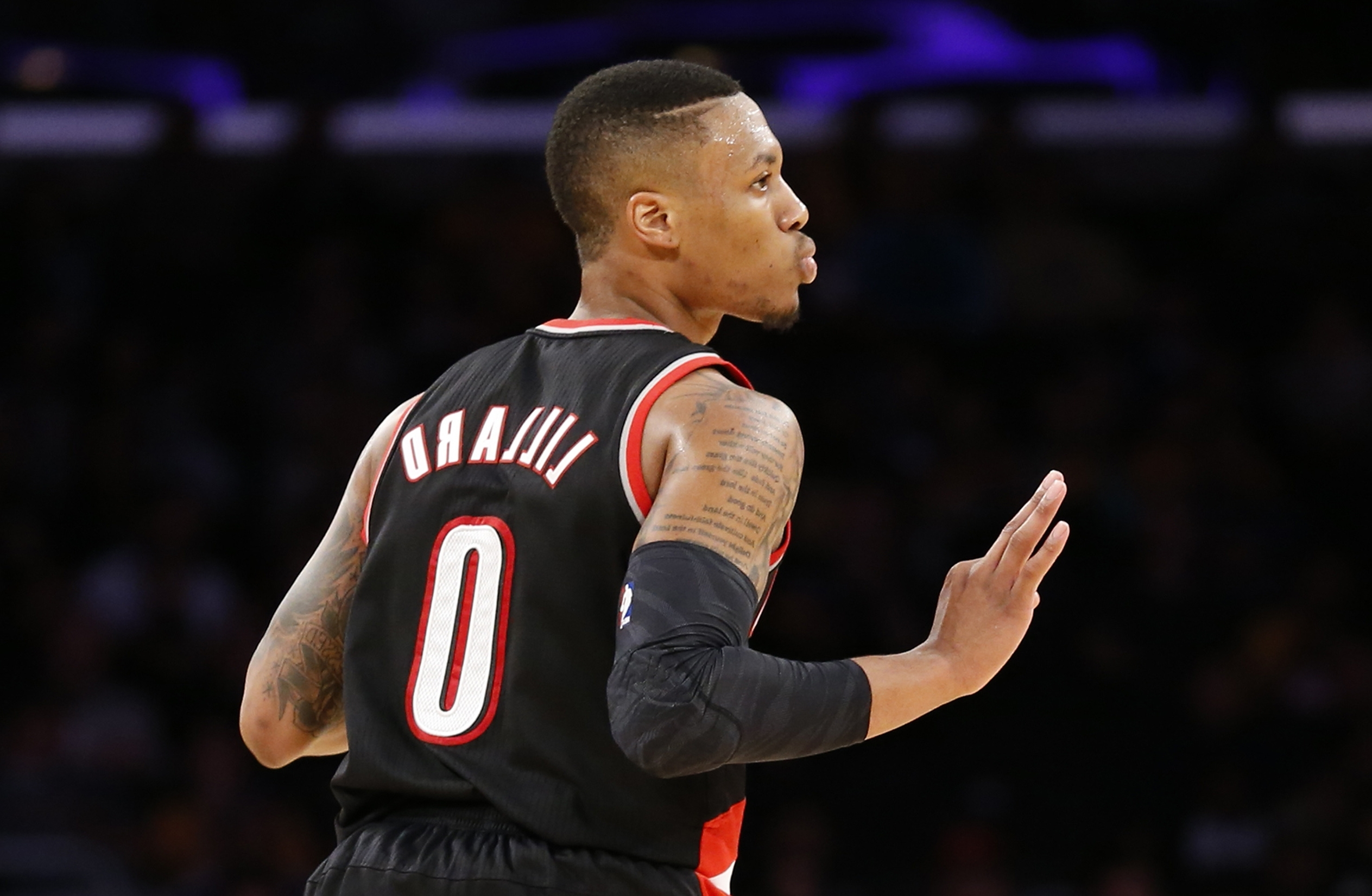 damian lillard portland trailblazers hd wallpaper 1816