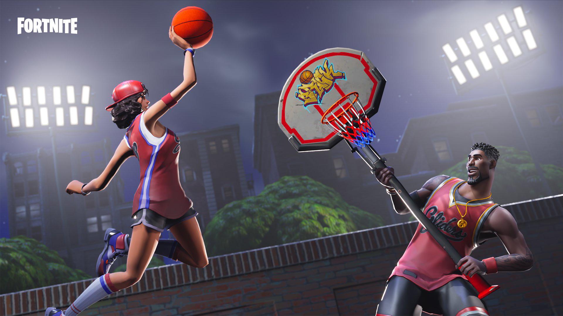 fortnite basketball 4k wallpaper background 2315