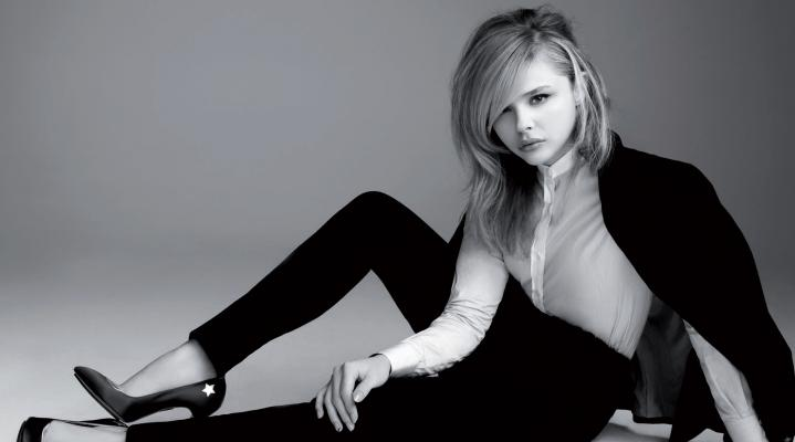 Chloe Grace Moretz Black and White HD Wallpaper 1771