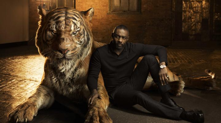 Idris Elba with Tiger 4K Wallpaper 2410