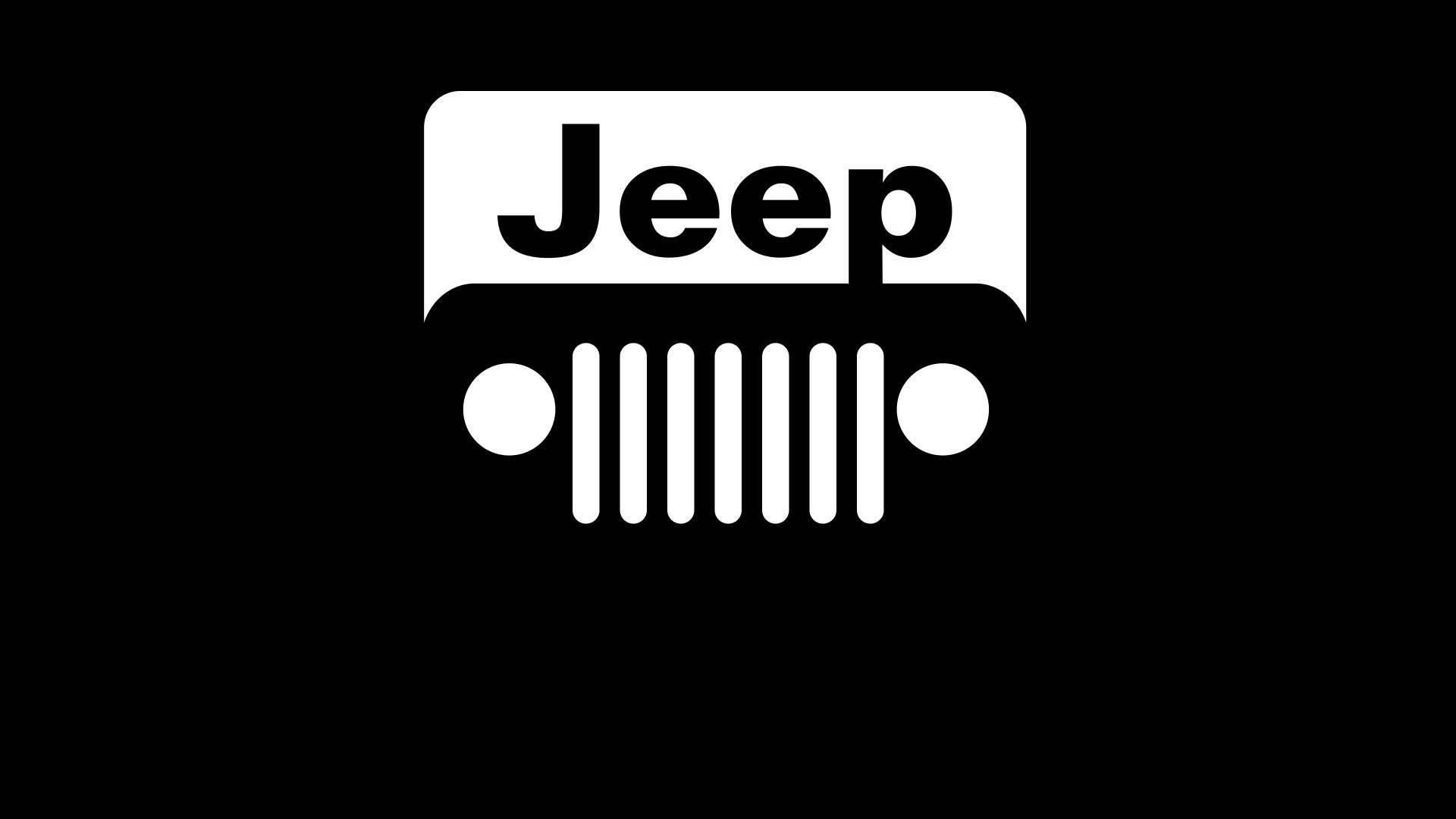 black jeep logo hd wallpaper 2429