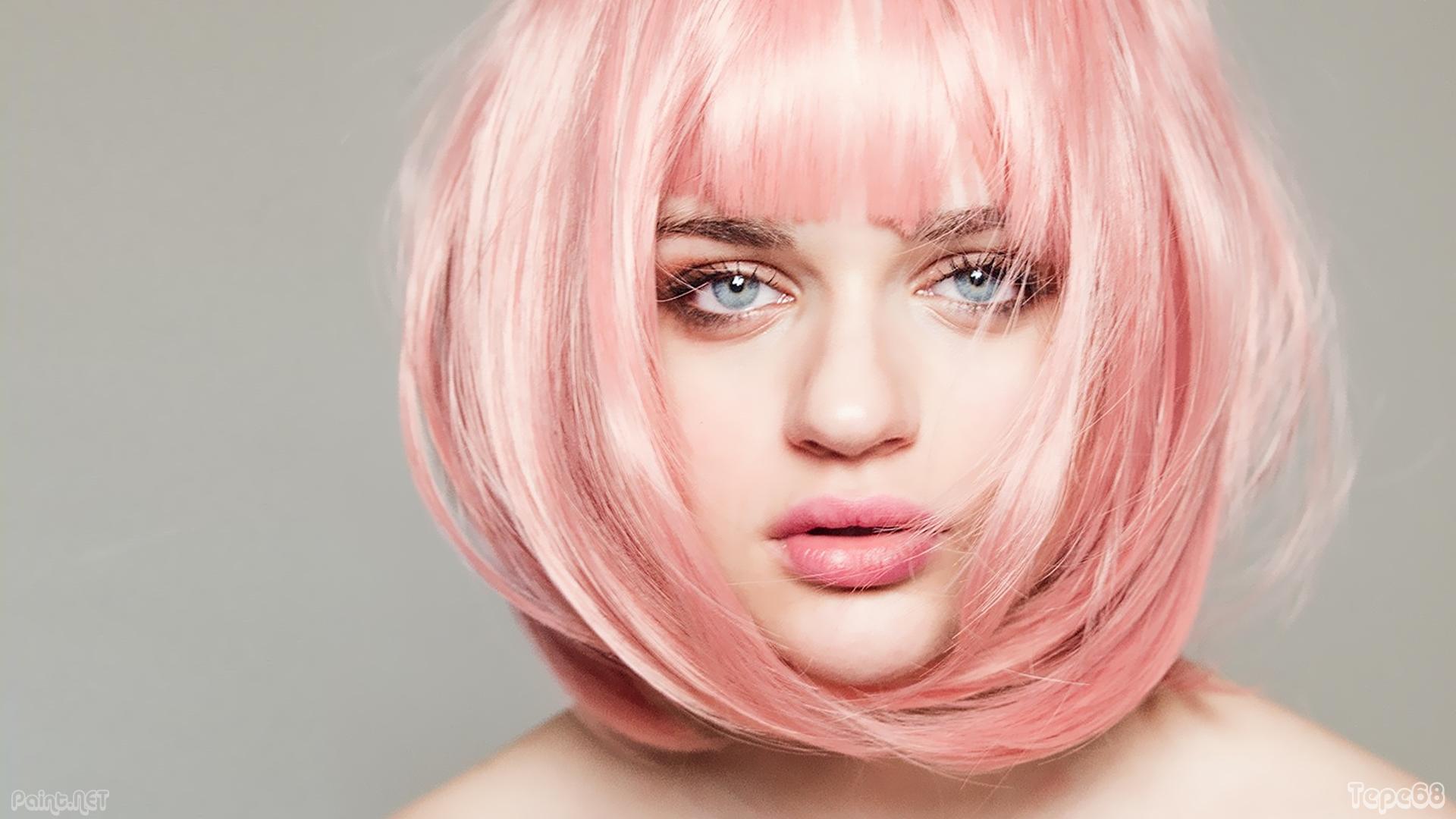 joey king pink hair hd wallpaper 2450