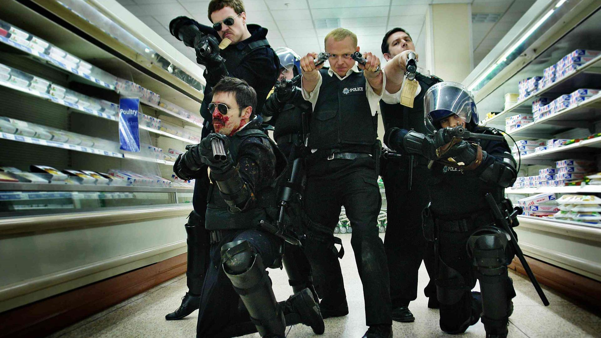 hot fuzz movie hd wallpaper 2381