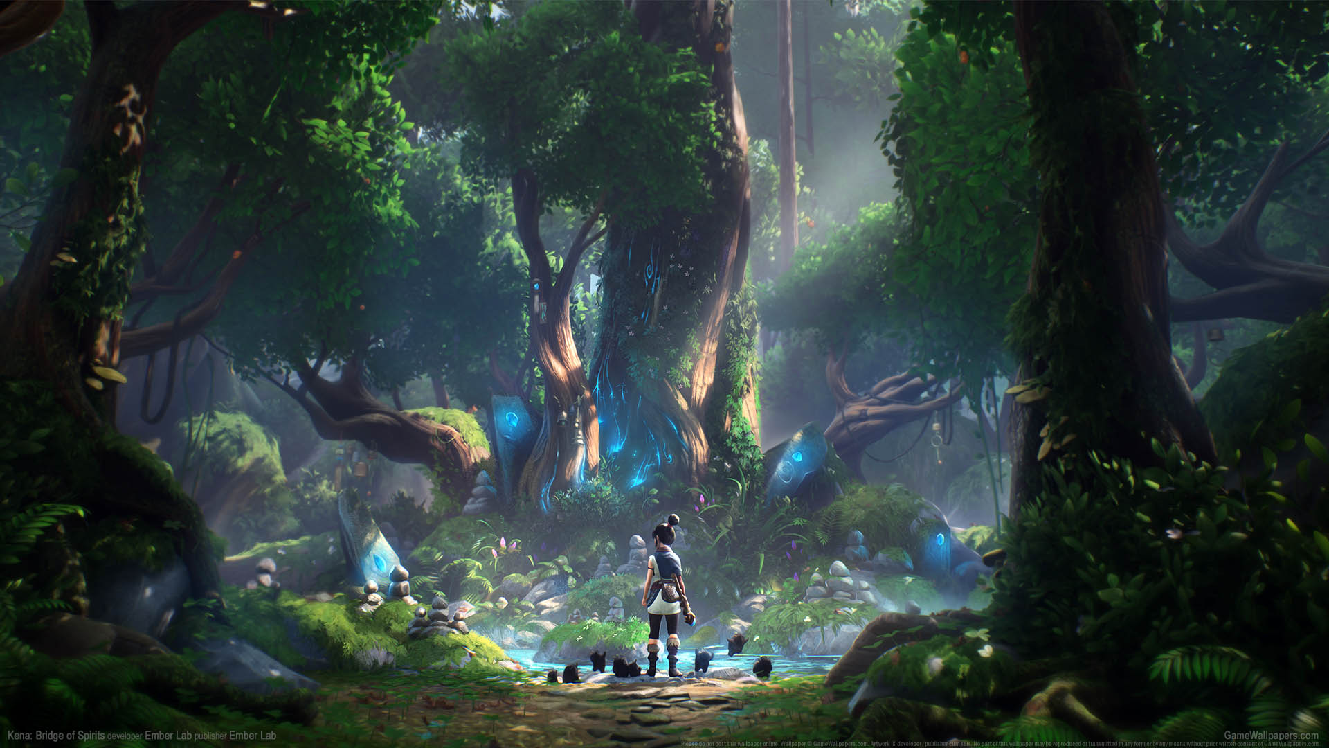 kena bridge of spirits video game 4k wallpaper 2580
