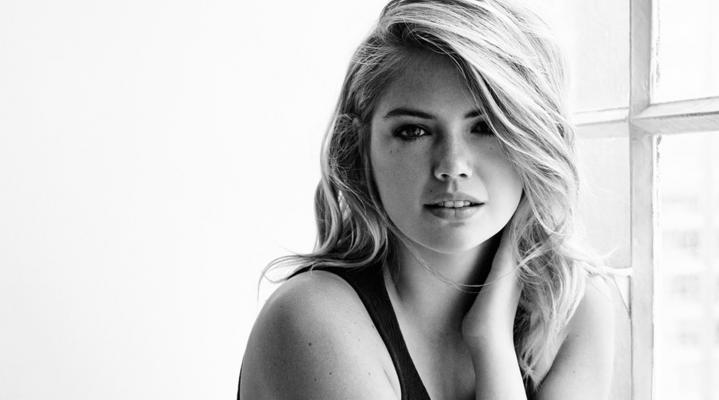 Kate Upton Black and White HD Wallpaper Background 2494